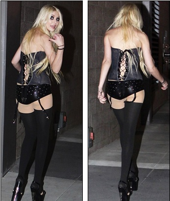 Taylor Momsen Wearing Almost Nothing at The Premiere of Justin Bieber's Movie