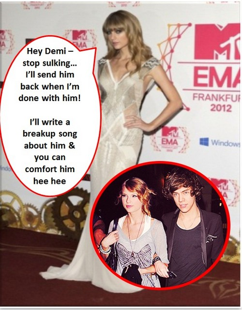 Taylor Swift and Harry Styles Dating Hookup: Demi Lovato Jealous and Sulking