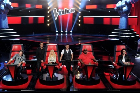 Christina Aguilera and Adam Levine in Bitter Brawl On The Voice