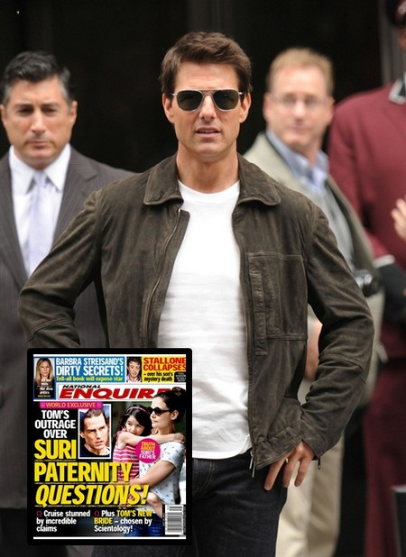 Tom Cruise Outraged As Suri Paternity Questions Arise