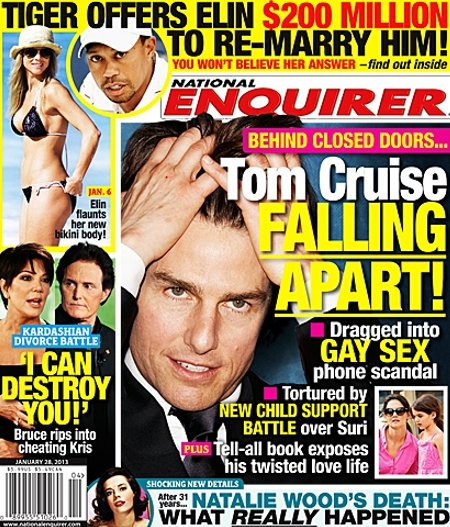 Tom Cruise Falling Apart Over Torturous Suri Cruise Child Support Battle and Twisted Love Life!
