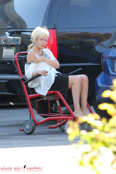 Tori Spelling was rushed to the Tarzana Medical Centre early Sunday by her husband, Dean McDermott