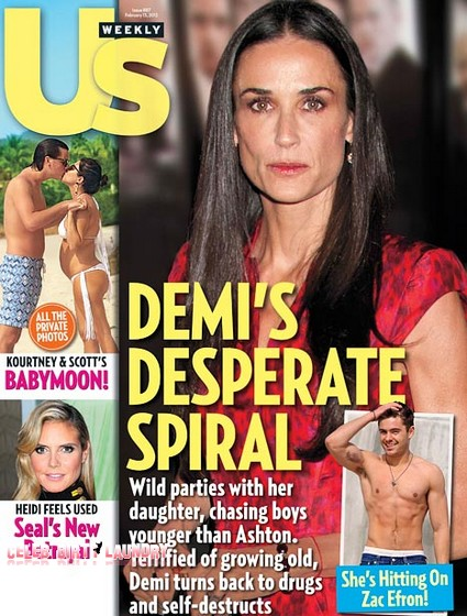 Demi Moore Hitting On Zac Efron Before Her Drug Overdose (Photo)