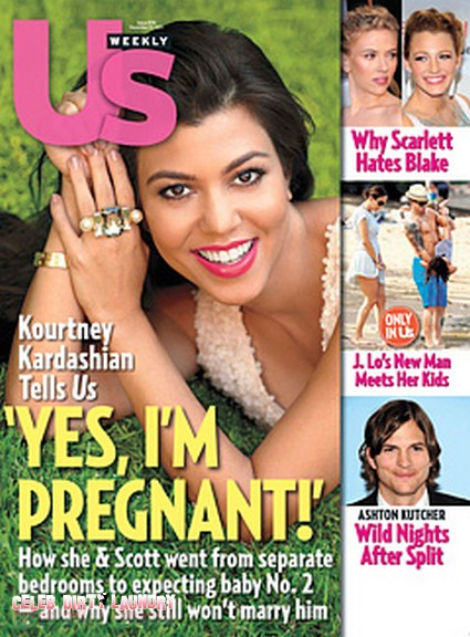 Kourtney Kardashian Is Nine Weeks Pregnant!  (Photo)