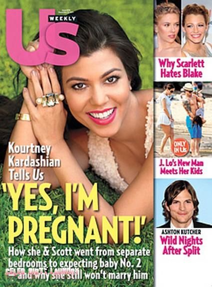 Kourtney Kardashian Is Nine Weeks Pregnant!  (Photo)