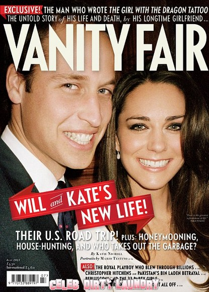Prince William & Kate Middleton Cover July 2011 Vanity Fair - Photo