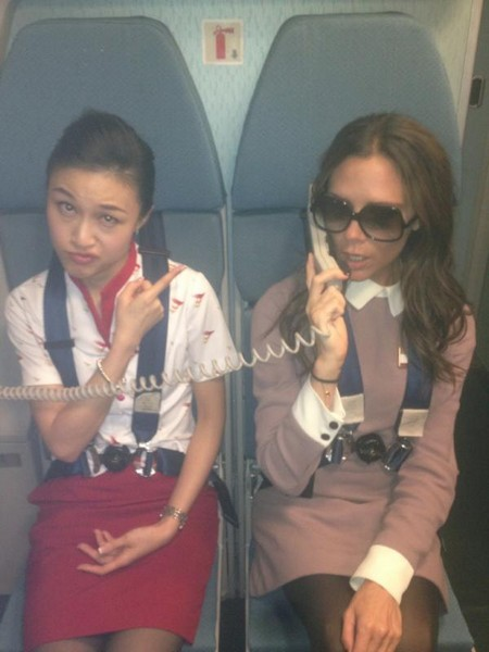 Victoria Beckham's In-Flight Prank Not Exactly A Hostage Taking Incident (Photo)