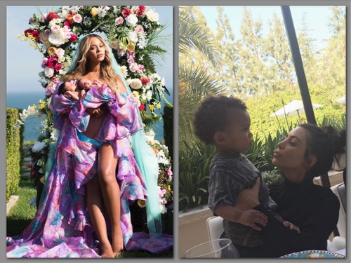 Beyonce and Kim Kardashian Baby Battle: Which Name Is More Ridiculous, Sir Carter or Saint West?