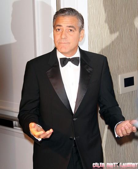 Brad Pitt and Angelina Jolie Tell George Clooney Jennifer Aniston's Wedding Is Off Limits!