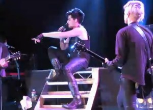 Video: Adam Lambert smokes pot on stage
