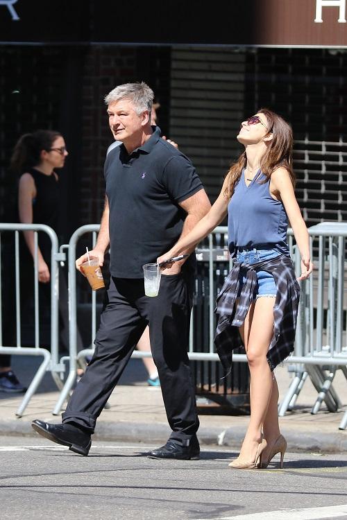 Alec Baldwin and Hilaria Baldwin Look Strained During Their Walk