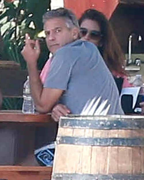 George Clooney & Amal Vacationing In Cabo With Cindy Crawford & Rande Gerber and the boys Amal-alammuddin
