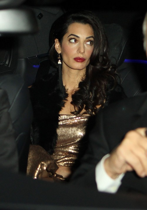 Amal Alamuddin Already Pregnant With Baby Number One For George Clooney – Spotted With Baby Bump