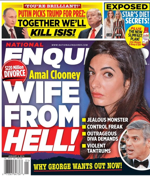 Amal Alamuddin a 'Wife From Hell' - Does George Clooney Want Out Now?