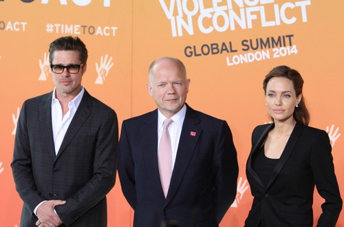 Angelina Jolie and Brad Pitt Snub George Clooney's Fiance, Amal Alamuddin - Won't Sit With Her at Global Summit in London? (PHOTO)