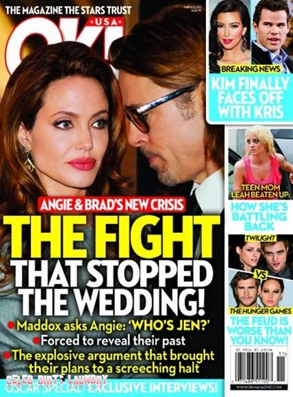 The Fight That Stopped Angelina Jolie & Brad Pitt's Wedding (Photo)