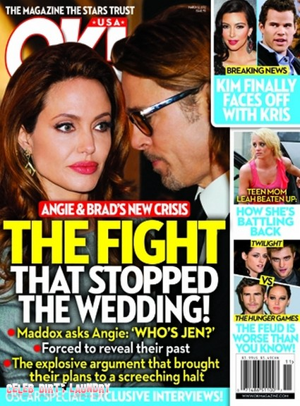 The Fight That Stopped Angelina Jolie & Brad Pitt's Wedding (Photo)