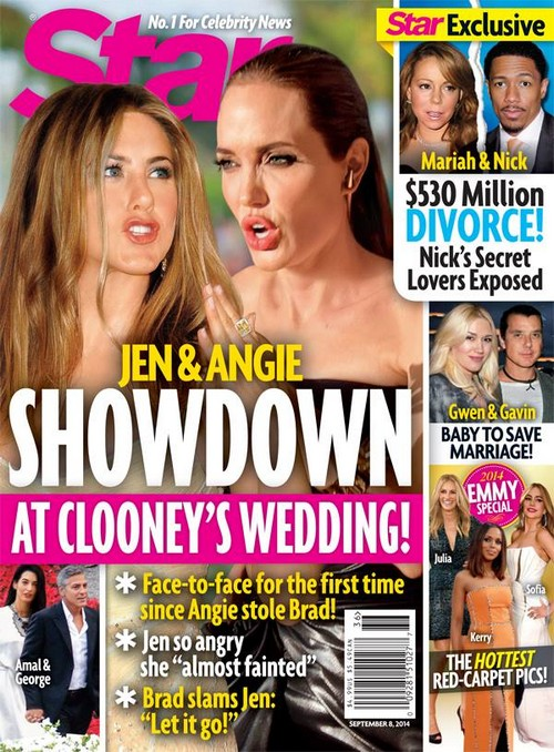 Jennifer Aniston and Angelina Jolie Fight After Brad Pitt, Angie Married: George Clooney Wedding Showdown (PHOTO)