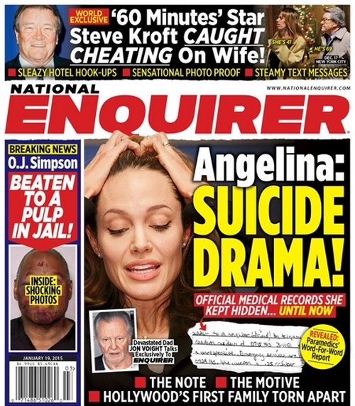 Angelina Jolie Suicide Shocker - Father Jon Voight And Medical Records Spill The Beans