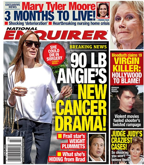 Angelina Jolie Hides New Cancer Drama From Brad Pitt - 90 Pounds - Report (PHOTO)