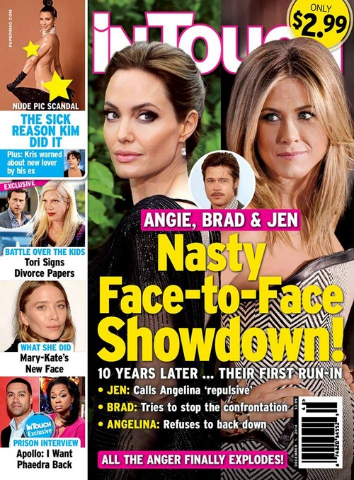 Angelina Jolie and Jennifer Aniston Golden Globes Face-To-Face Showdown: Brad Pitt Mediates First Confrontation In Ten Years! (PHOTO)