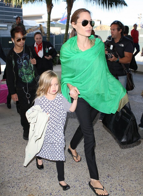 Angelina Jolie Looking Anorexic: Brad Pitt Rushes Home In Concern (PHOTOS)