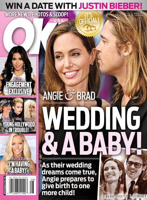 Brad Pitt And Angelina Jolie: Summer Wedding, Winter Baby! (Photo)