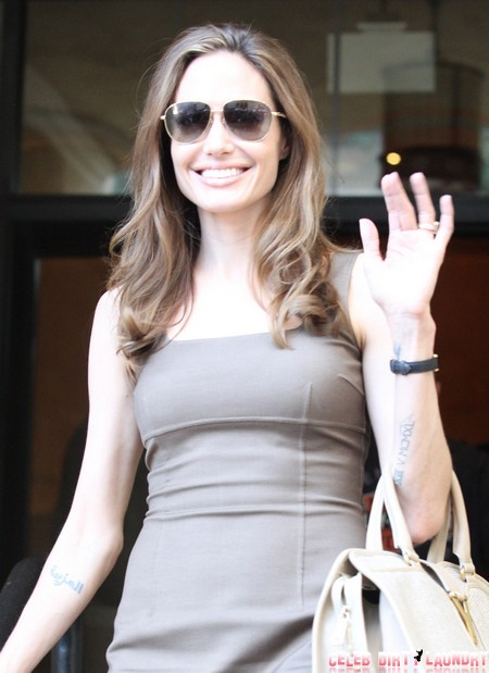 Angelina Jolie Shows Off Her New Bling