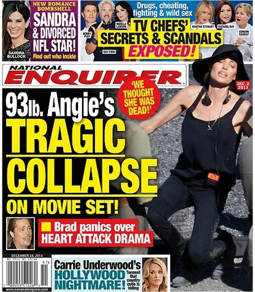 Angelina Jolie Heart Attack Risk After Collapsing on Movie Set: Brad Pitt Panics - Report (PHOTO)