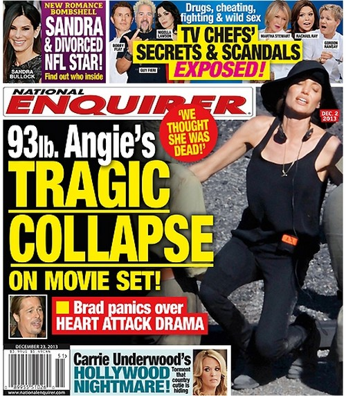 Angelina Jolie Heart Attack Risk After Collapsing on Movie Set: Brad Pitt Panics - Report (PHOTO)