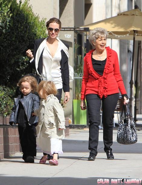 Angelina Jolie Ruins Christmas For Brad Pitt's Mom, Jane Pitt - Grinch!