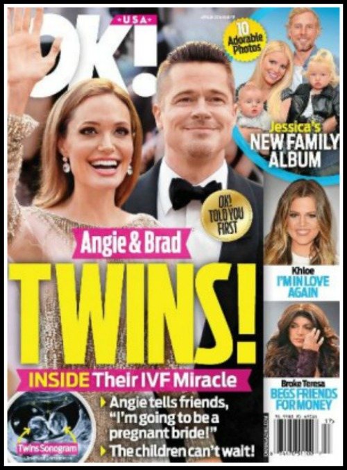 Angelina Jolie Finally Pregnant With Twins Thanks To IVF - Baby Bump During Her Wedding? (PHOTO)