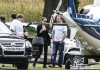 Angelina Jolie Catches A Helicopter Out Of London
