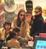 Brad & Angie Shopping At FAO Schwarz With Their Kids