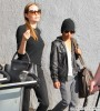 Angelina Jolie & Son Maddox Arriving On A Flight At LAX