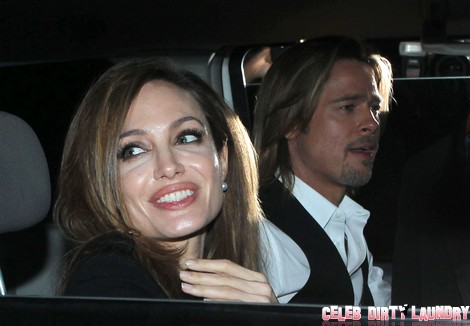 Angelina And Brad Leaving For The Make It Right Gala In New Orleans