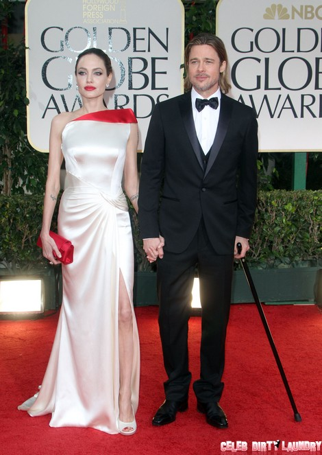 Angelina Jolie and Brad Pitt at The 69th Annual Golden Globe Awards in LA