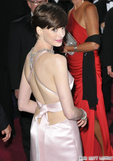 Anne Hathaway's Pointy Nipples Get More Attention Than Her Oscar Win (Photos)