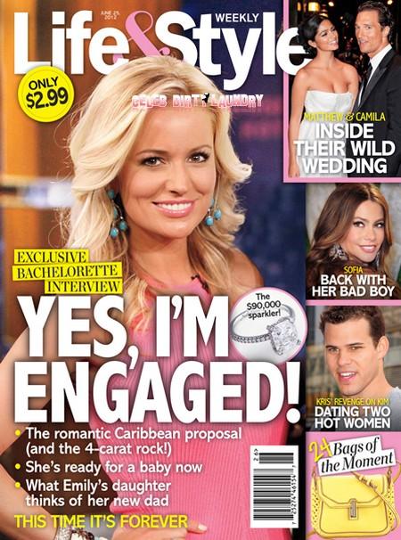 The Bachelorette Emily Maynard Is Engaged - Ring Photo HERE!