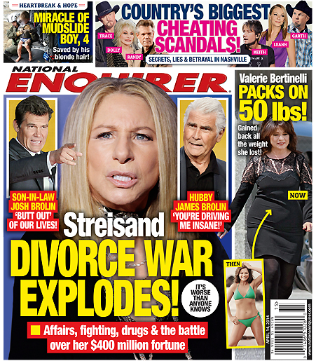 Barbra Streisand and James Brolin Divorce and Cheating - Fighting Over Barbra's $400 Million Fortune (PHOTO)