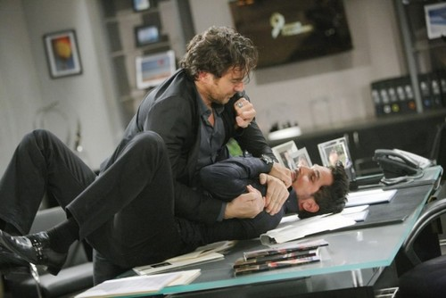 The Bold and the Beautiful Spoilers: Bill and Ridge Fight About Cheating On Katie With Caroline in B&B Brawl!