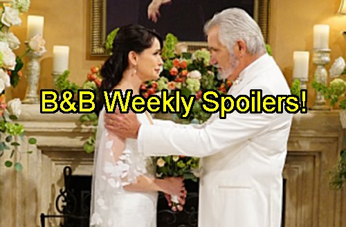bold beautiful spoilers wedding near funeral wyatt throws away marriage defends quinn from steffy