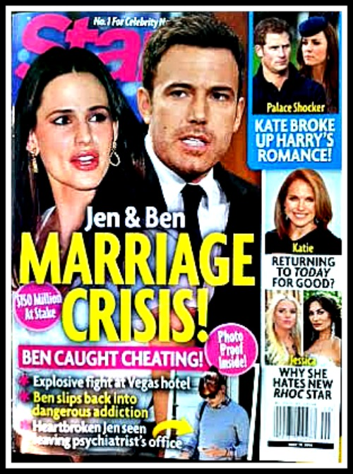 Ben Affleck Cheating On Jennifer Garner - Divorce Looms as Marriage In Crisis? (PHOTO)