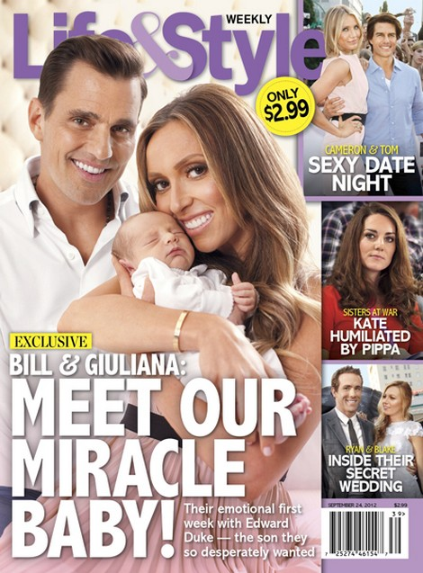 Bill and Giuliana Rancic Introduce Their Son Edward Duke to the World (Photo)