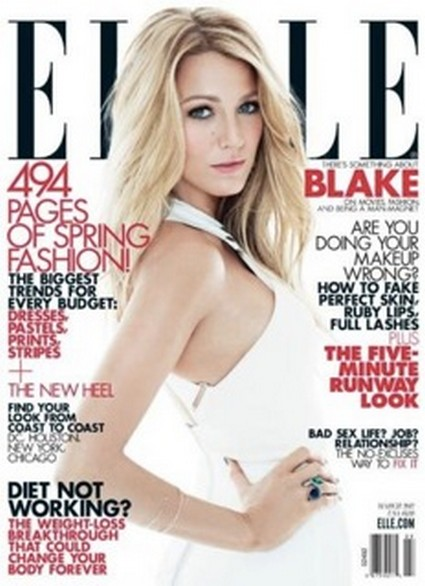 Blake Lively Covers March's ELLE and Swears She Doesn't Sleep Around