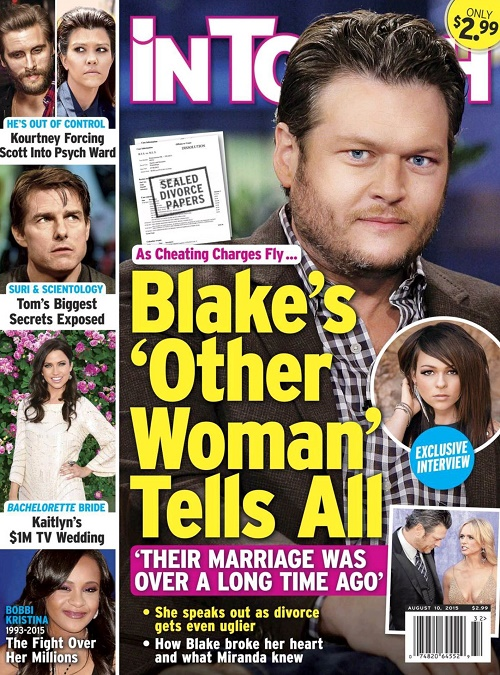 Blake Shelton's Mistress Cady Grove Tells All: Did Cheating on Miranda Lambert End Marriage, Cause Divorce?