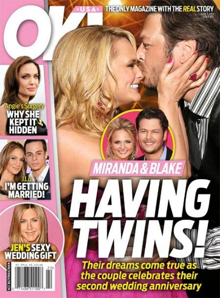 Blake Shelton & Miranda Lambert Are Having Twins (Photo)
