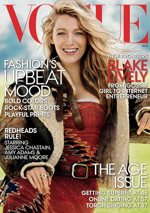 Blake Lively Disses Gwyneth Paltrow and Goop With 'Preserve' Interview in Vogue August 2014 (PHOTO)