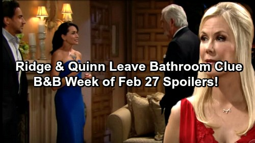 The Bold and the Beautiful Spoilers: Sally Says Coco Must Rob Forresters Blind – Ridge and Quinn Kiss, Leave Behind Clue