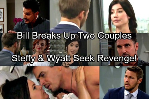 The Bold and the Beautiful Spoilers: Bill Shatters Steffy's and Wyatt's Relationships – Exes Team Up for the Ultimate Revenge?